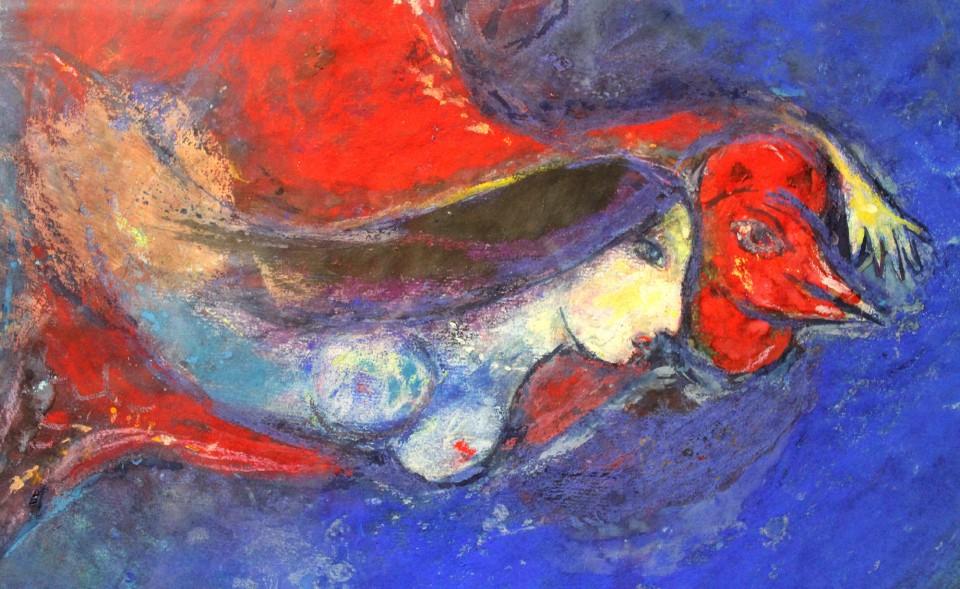 chagall il gallo rosso
